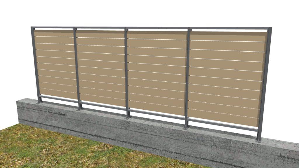 Pannelli grigliati frangivista articoli per plateatici e for Divisori per terrazzi