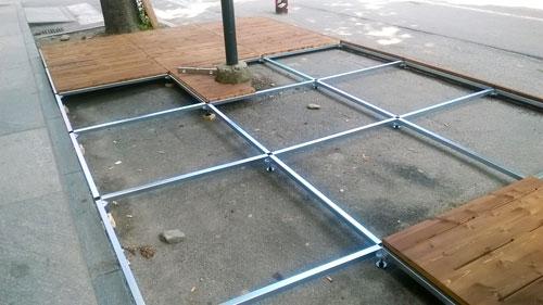 Pedane per dehor modulari da esterno