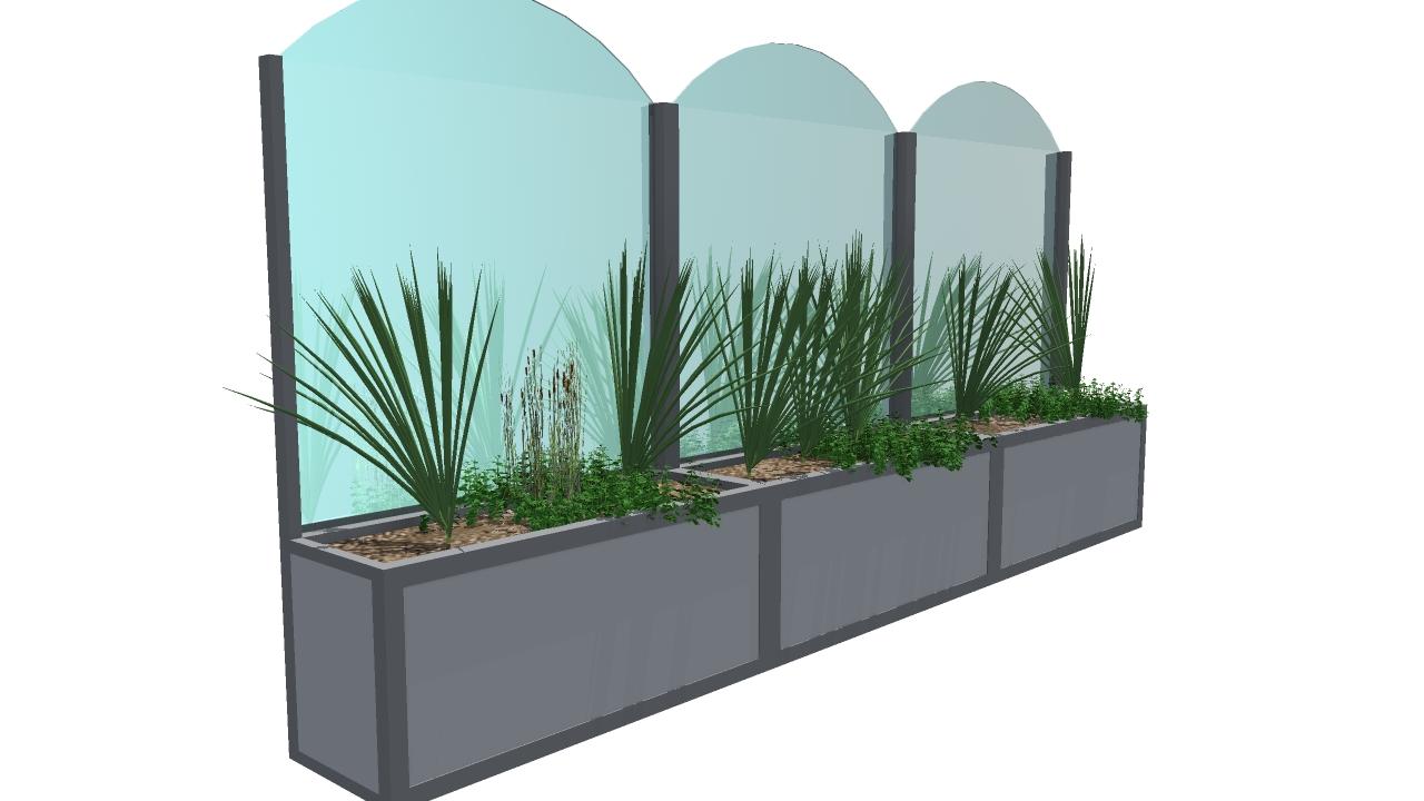 Paravento modello floor articoli per plateatici e dehor - Paraventi da esterno ...