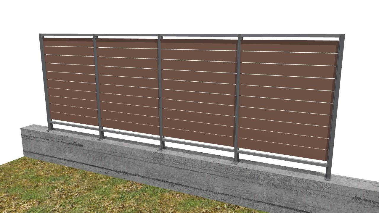 Pannelli grigliati frangivista articoli per plateatici e for Divisori da esterno