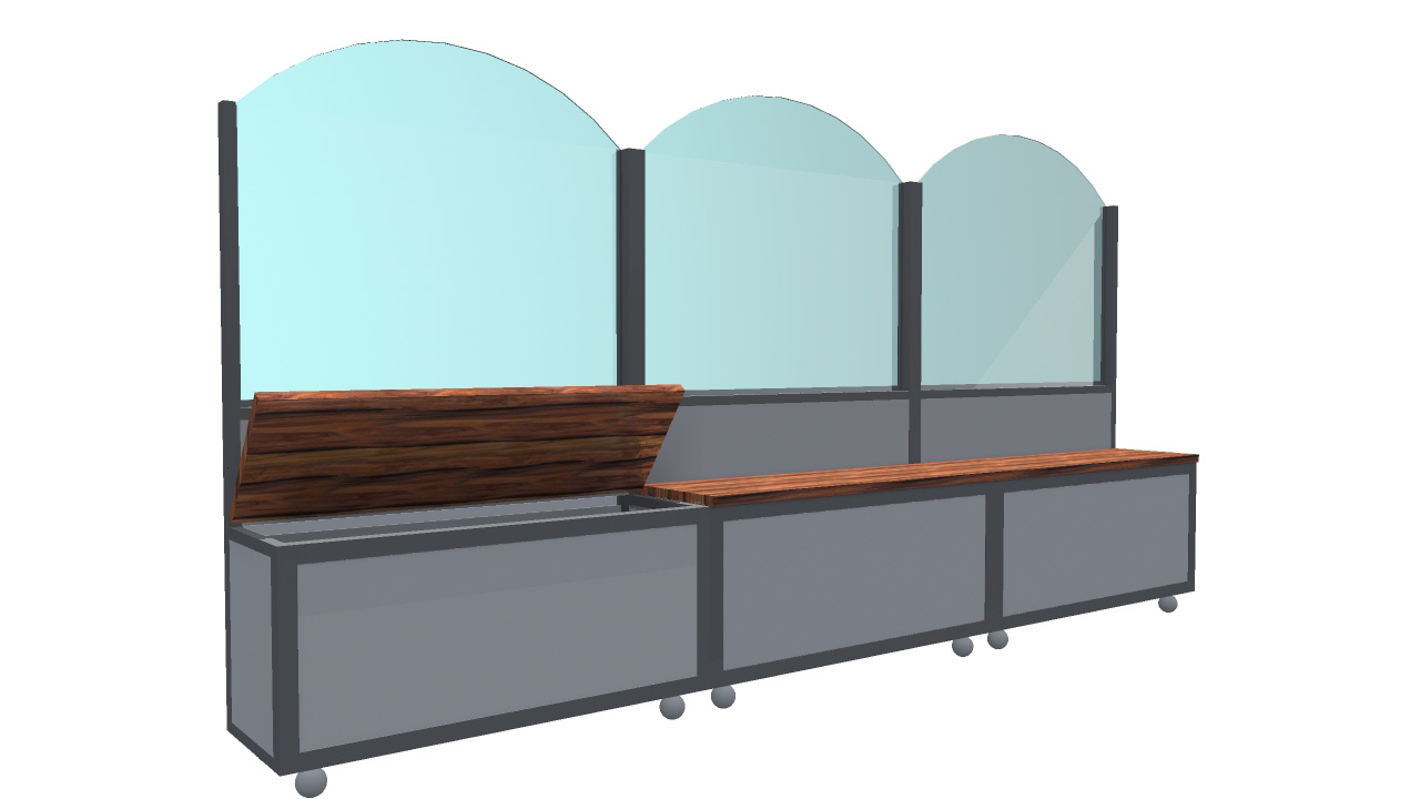 Paravento In Legno Per Esterni paravento modello bench | articoli per plateatici e dehor